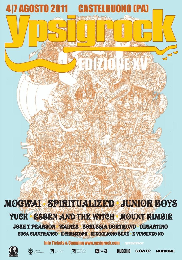 Ypsigrock Festival poster 2011