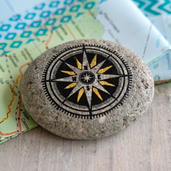 TRAVEL STONE - COMPASS A Travel Stone is a unique gift for a traveling loved one. Travel along in your thoughts & stay connected! Let someone know
