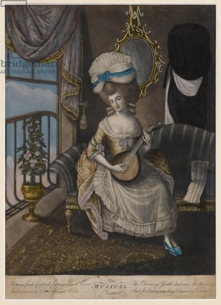 The Musical Charmer, 1780 (hand-coloured mezzotint), Gefferye Museum, London UK