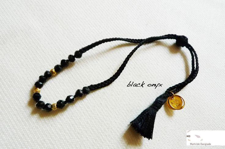 Mathilde Danglade  Semi-precious stone bracelet  QBraccialetto con le pietre semi preziose Black Onyx