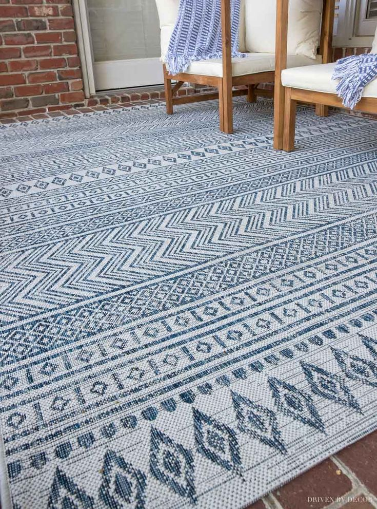 Our Porch Makeover Top 10 Picks From Wayfair S Save Big Give Back Sale Driven By Decor Outdoor Rug Porch Porch Makeover Porch Rug