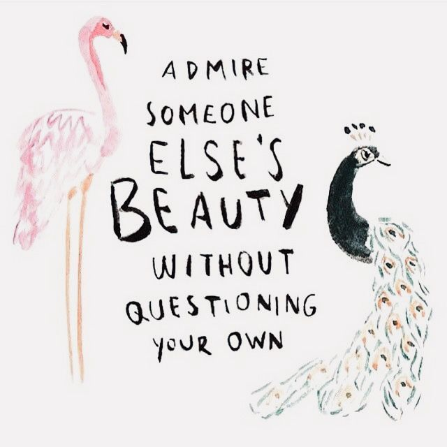 Someone else's beauty doesn't take away from your own | Amen