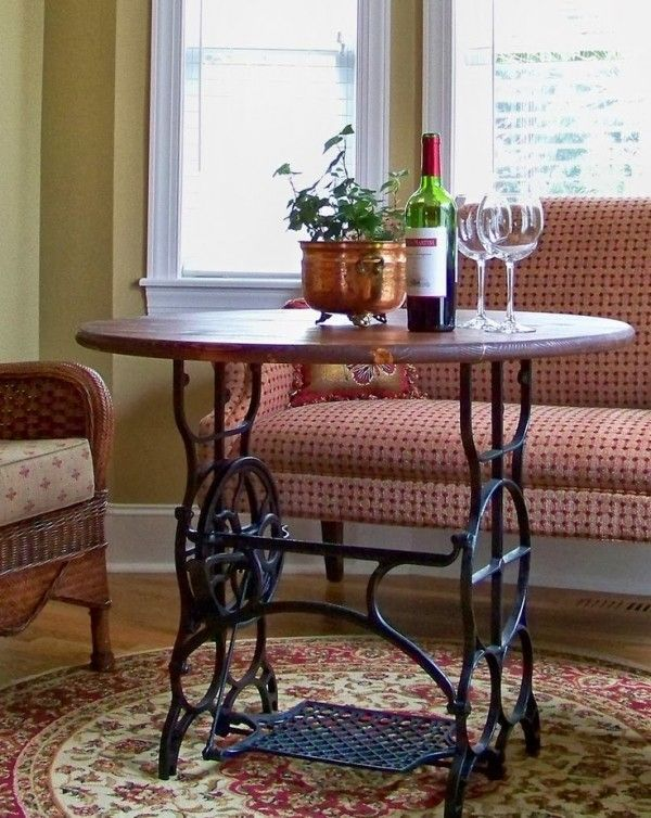 60 Ways to Upcycle Old Sewing Machine Tables