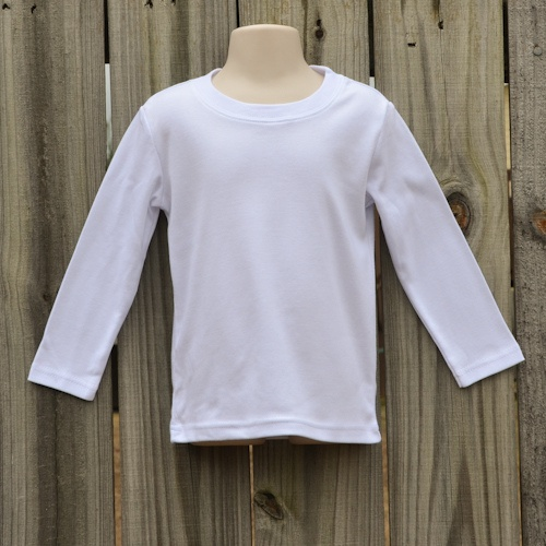 Boy S Long Sleeve White Embroidery Blank Shirt Blanks