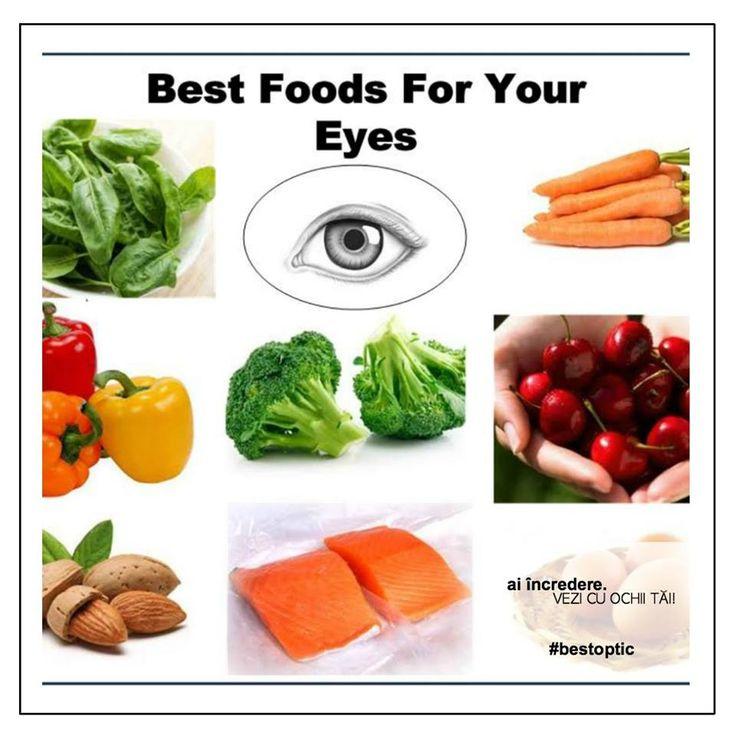 Copilul tău are nevoie și de o alimentație sănătoasă,  amintește-ți de spanac, napi verde, varză creaţă şi broccoli, conţin cantităţi mari de luteină. Morcovii, cartofii dulci, pepenii şi dovlecei- sunt de asemenea surse bogate de beta-caroten. Fructele şi legumele bogate în vitamina C - lămâile, portocalele, întăresc vasele de sînge. Migdalele, nucile, seminţele de floarea soarelui, alunele, arahidele sunt cele mai bogate surse de vitamina E.