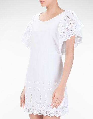 Dress with frill detail on sleeves