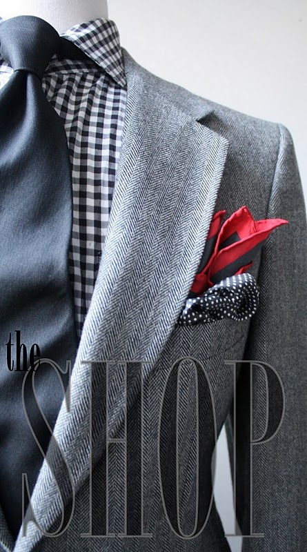 herringbone tweed suit