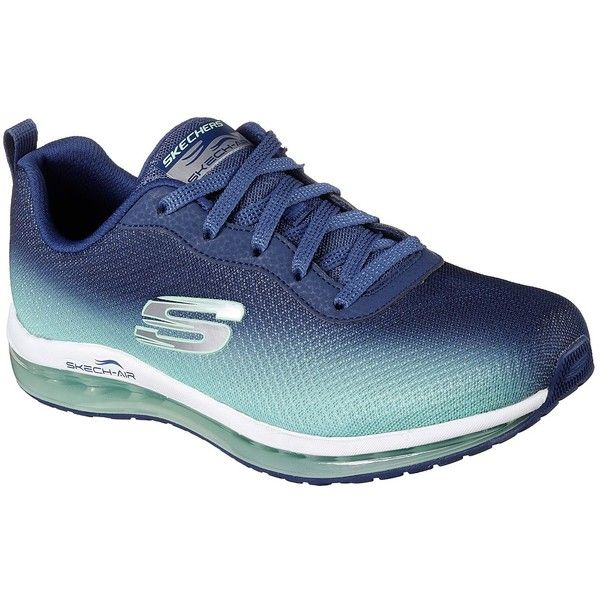 Skechers Women's Skech-Air Element Navy - Skechers ($75) ❤ liked on Polyvore featuring shoes, athletic shoes, navy, skechers footwear, navy athletic shoes, ombre shoes, air cushion shoes and athletic footwear