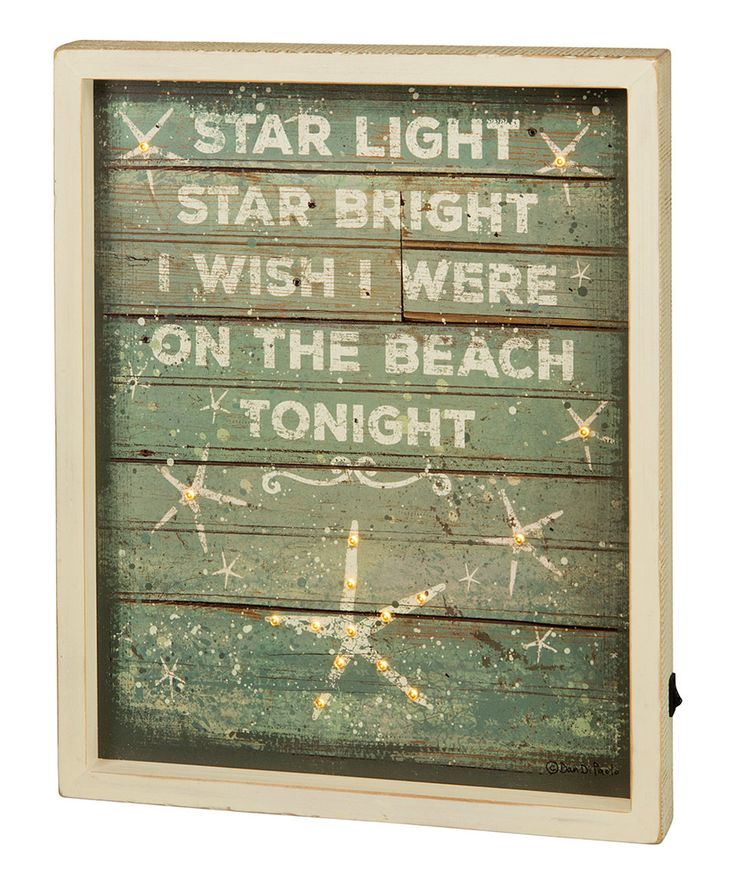 Take a look at this 'Star Light' Lighted Box Sign today!