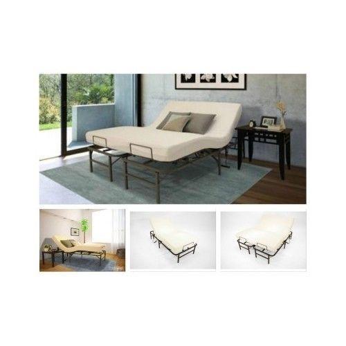 Adjustable-Bed-Frame-TwinXL-Split-King-Electric-Remote-Base-Foundation-Reclining