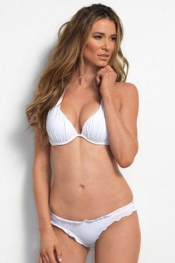 Ultra Soft White Push Up Bikini Top