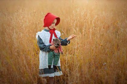 Купить или заказать Красная Шапочка . Костюм : платье, сарафан, чепчик. в интернет-магазине на Ярмарке Мастеров. А вы верите в сказки?... Они оживают... Костюм Красной шапочки в ретро стиле . На его создание вдохновили винтажные открытки. Приобретая этот костюм вы получаете не только оригинальный карнавальный костюм, но и отдельно платье из тонкой джинсы на хлопковом подкладе, легкий пляжный сарафан из белоснежного шитья и красную шапочку -чепец. Волшебные фото Анна Петрова .