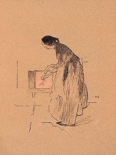 Helene Schjerfbeck, BY THE FIRE