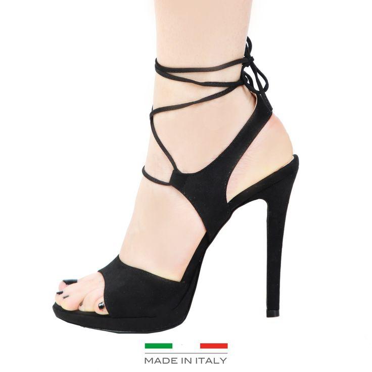 Sandales en cuir Tisse 100% cuir Hauteur du talon : De 10 à 12 cm