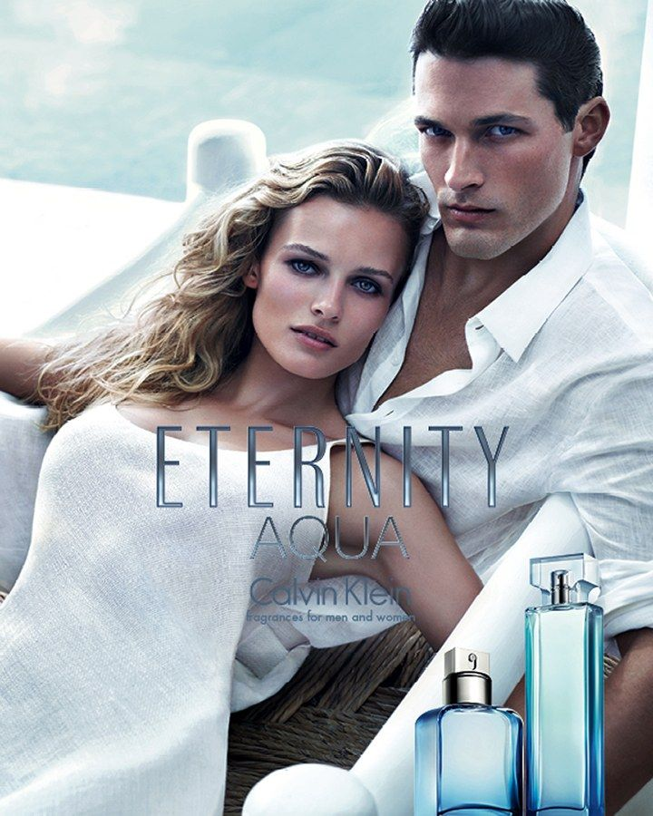 Edita Vilkeviciute Keeps it Pure in Calvin Kleins Eternity Aqua Fragrance Campaign by Mario Sorrenti