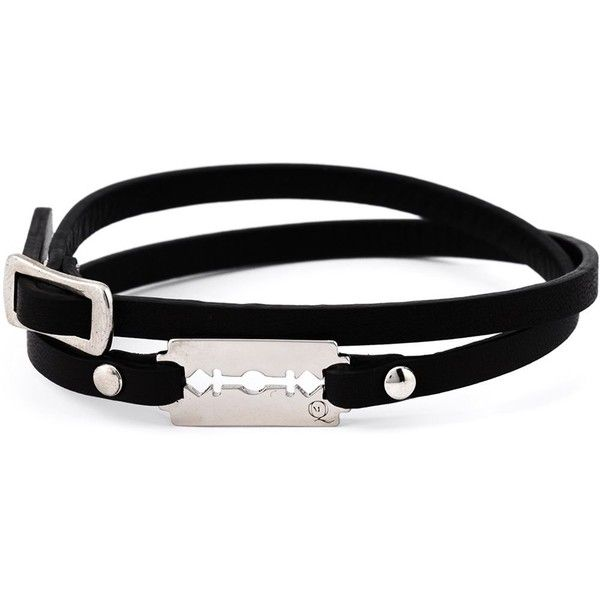 McQ Alexander McQueen razor blade double wrap bracelet (495 NOK) ❤ liked on Polyvore featuring jewelry, bracelets, black, kohl jewelry, black jewelry, black wrap bracelet, black bangles and bracelet bangle
