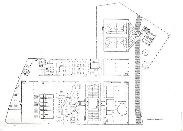 Plan of SESC/ Lina Bo Bardi