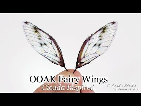 Fairy Wings for OOAK Art Dolls Tutorial - Cicada Inspired - YouTube