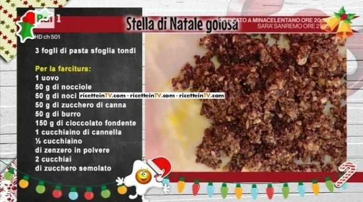 La prova del cuoco   Ricetta stella di Natale golosa di Natalia Cattelani