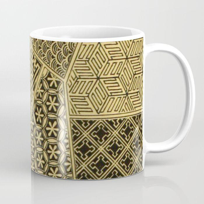Japanese Patterns Coffee Mug   BlueSpecsStudio + Society6