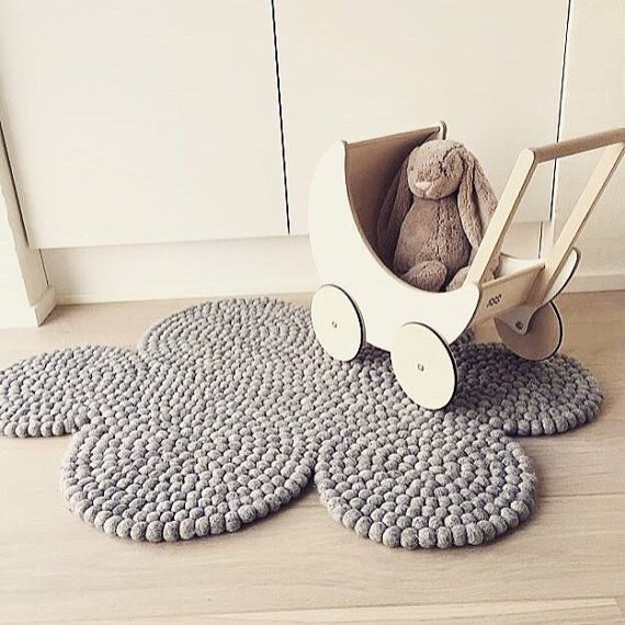 madeinnepal.dk felt ball rug cloud by madeinnepaldk on Etsy
