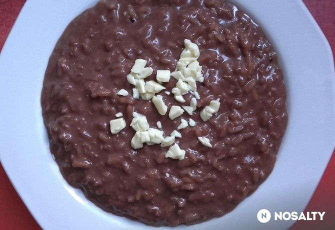 Bounty risotto avagy kókuszos-csokis tejberizs