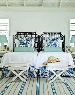 Coastal Living Decorating With Headboards Use What You Have A Pair Of Twin Can Stand In For Larger One This Is Especially Useful Guest
