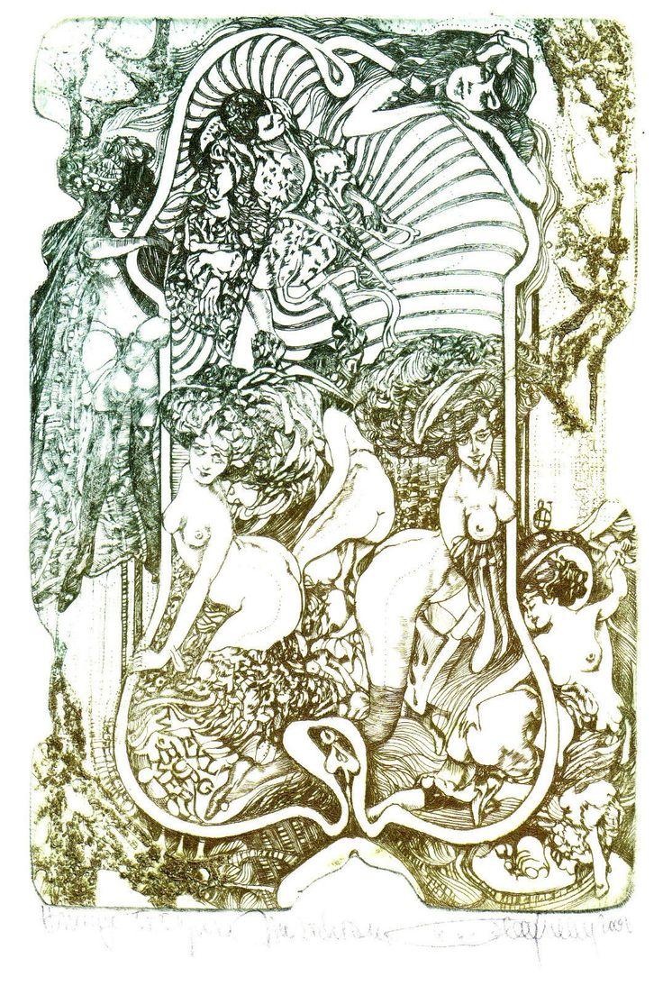 HLAVATY Exlibris Ex Libris SIGNIERT erotic art nude akt RAR !!!