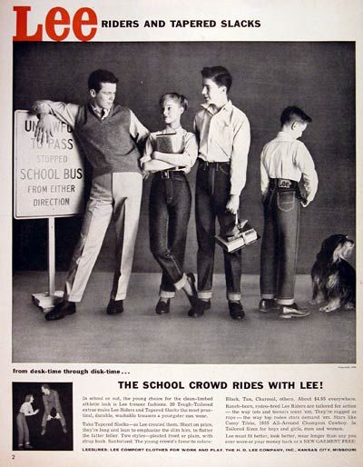 In 1956, America was introduced to Dick Clark's American Bandstand ... and this Lee ad.