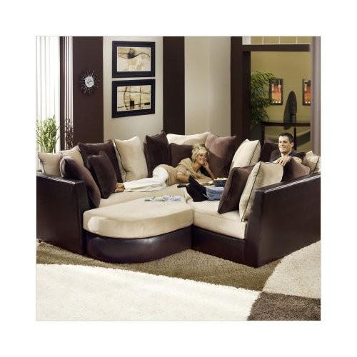 Jackson Furniture Canyon Two Tone 3 Piece Modular Sectional Sofa In Coffee