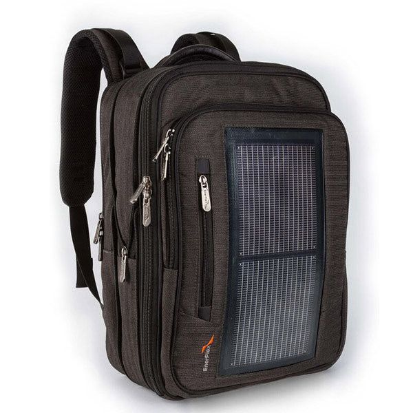 The EnerPlex Pack Executive Solar Powered Backpack is a revolutionary solar integrated backpack, able to keep anyone charged up while they're on the move. Equipped with a flexible and incredibly rugge
