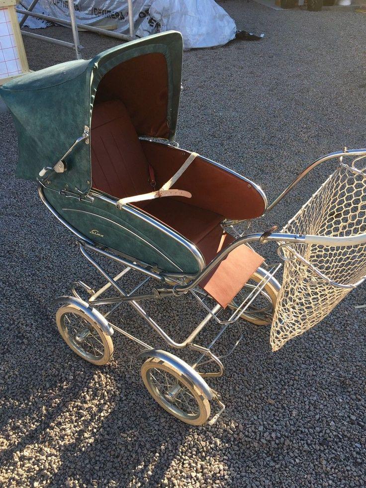 FINN – Retro Simo barnevogn med sportsdel og bærebag
