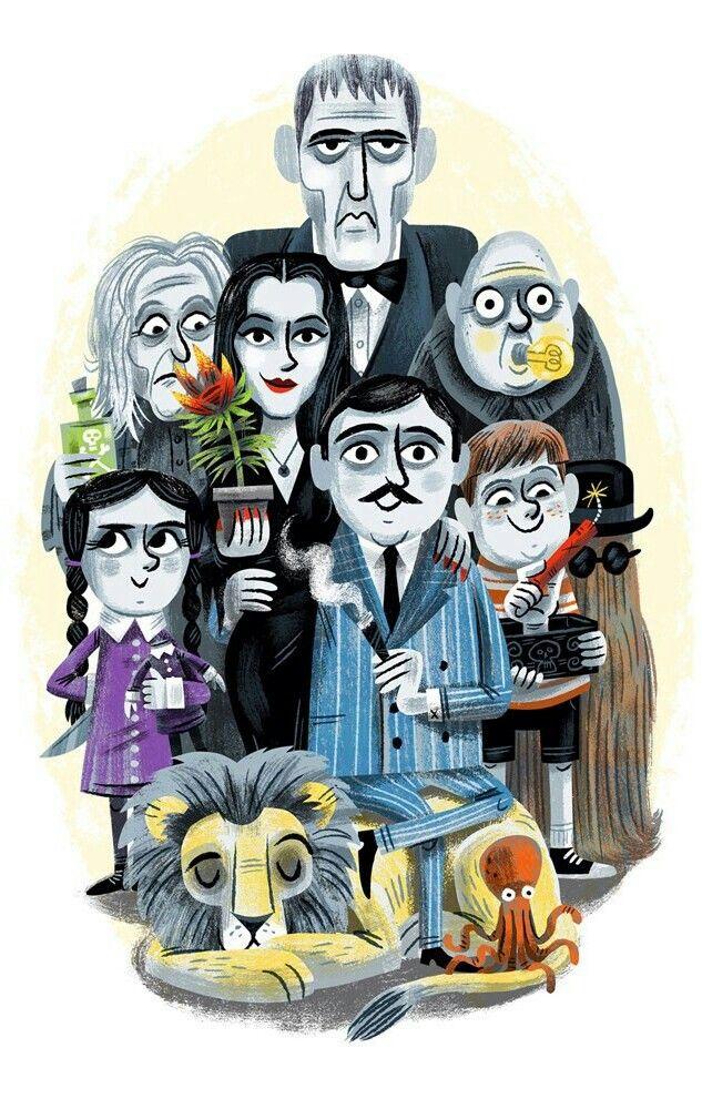 The Addams Family Addams Family Cartoon Family Art Family Cartoon