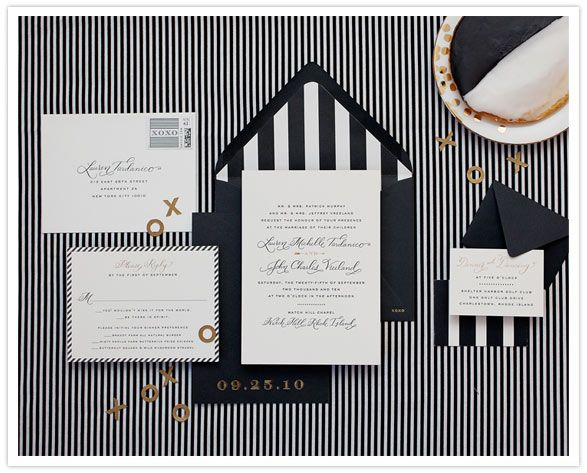 Perfect Black And White Stripes Wedding Invitation From Cheree Berry
