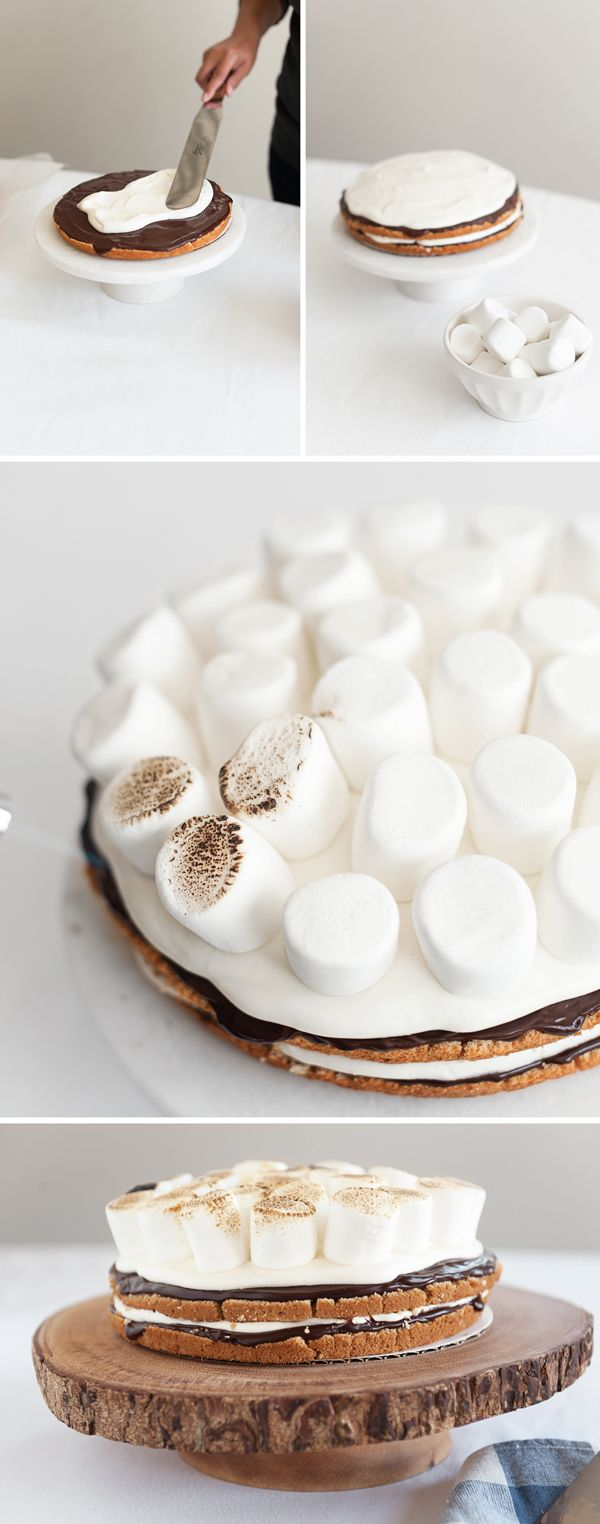 S'mores Birthday Cake - Recipe from A Subtle Revelry