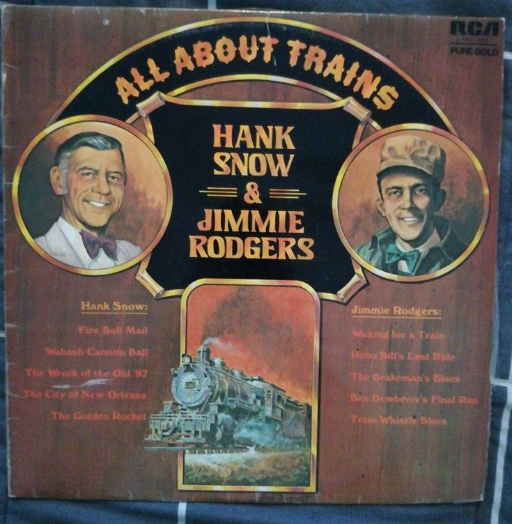 Hank Snow & Jimmie Rodgers All About Trains Vinyl LP