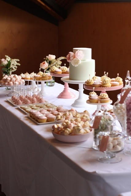 gorgeous pink treat table