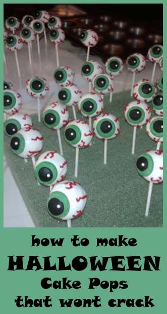 How to make Halloween Cake Pops that wont crack. When I first saw this picture I thought they were cool yard decorations. Hmmm...