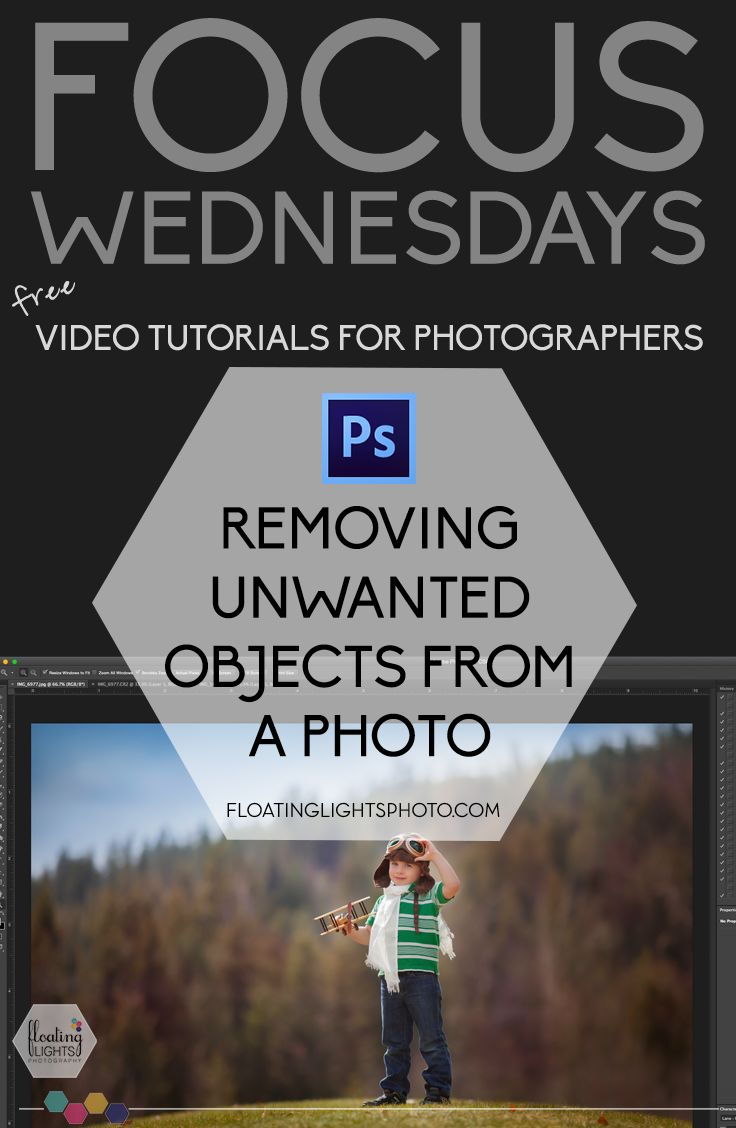 Removing Unwanted Objects From A Photo | Focus Wednesdays | Free Photoshop & Lightroom Tutorials | Floating Lights Photography | #focuswednesdays, #removingunwantedobjects, #clonestamp, #videotutorials, #photoshopvideos, #photoshop, #editing101