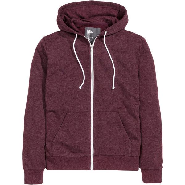 Hooded Jacket $24.99 found on Polyvore featuring tops, jackets, outerwear, shirts, purple sweatshirt, zip sweatshirt, purple shirt, purple hoodies and zip hoodies