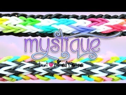 NEW Mystique MONSTER TAIL Rainbow Loom Bracelet Tutorial | How To - YouTube