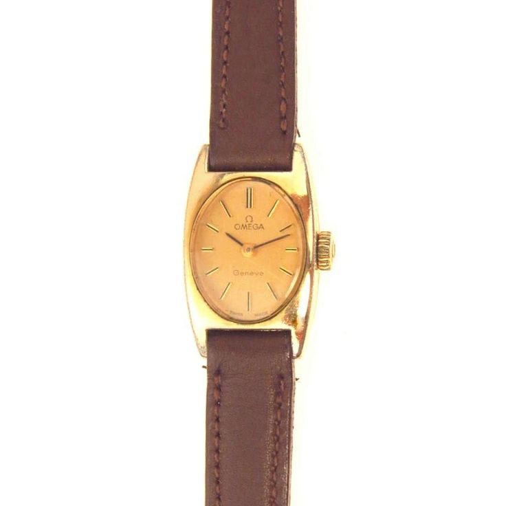 Vintage Omega Ladies Watch Gold Filled Leather Band 1970's  #fashionhistory