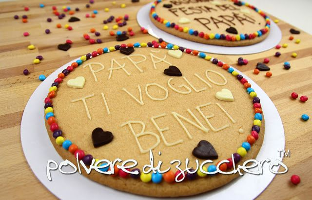Tutorial per la festa del papà: i biscotti giganti con un messaggio  Tutorial For Father's Day: big cookies with a message