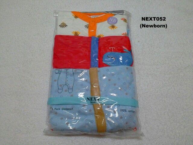 #Sleepsuit Next (NEXT052) ~ 130ribu ~ Ukuran : Newborn, Panjang badan bayi s/d 56cm (s/d 4.5kg) ~ Sleepsuit Next ini terdiri dari 3 baju dalam 1 paketnya (Lengan panjang & celana panjang tutup kaki yang menyatu)