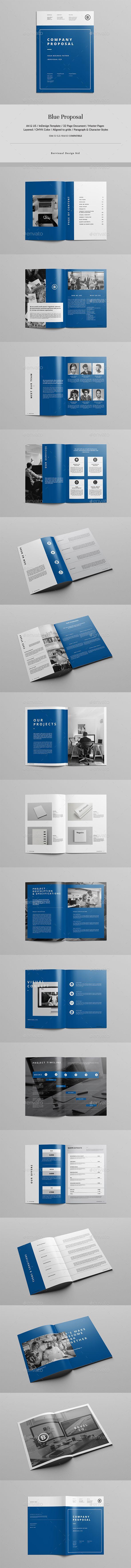 Blue #Proposal - Corporate #Brochures Download here: https://graphicriver.net/item/blue-proposal/19608778?ref=alena994