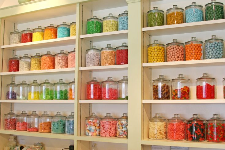 Old Fashioned Candy Store Containers