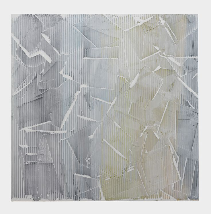 Hewn by Rachel Wickremer polycarbonate & acrylic paint, 100 x 100 cm