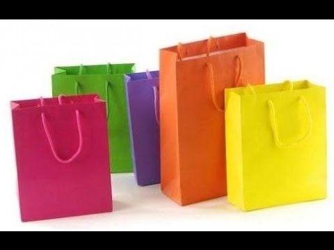 Bolsas de papel para regalo - Como hacer bolsas de regalo manualidades - YouTube