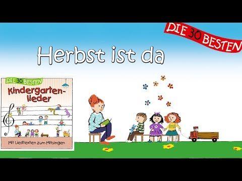 Der Herbst ist da - Die besten Kindergartenlieder    Kinderlieder - YouTube