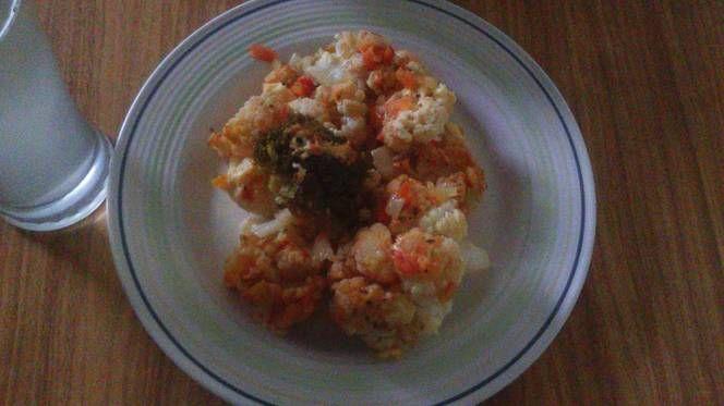 Coliflor y Brócoli a la parmesana (Olla de cocción lenta-CrockPot-SlowCooker)